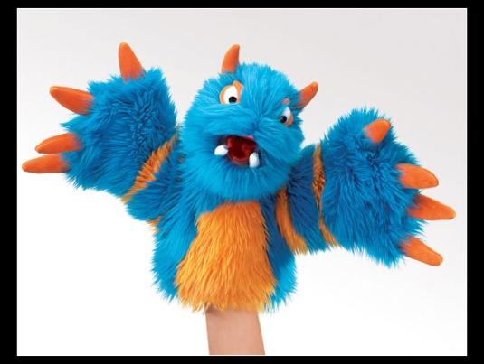Blueper Monster Puppet