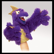 Purple Pi Monster Puppet