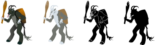 Variety of Krampus designs for different uses